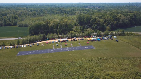 Arial photo of the field for Saturdays event.. Thanks to Lasse and Tara.