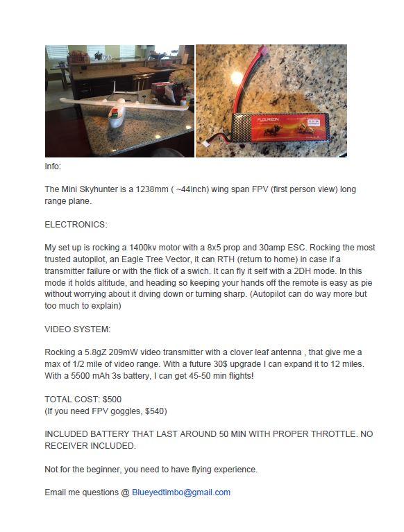 Mini Sky Hunter for Sale